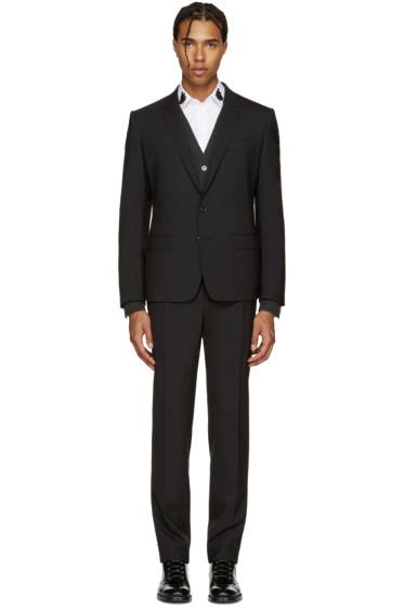 Dolce & Gabbana - Black Wool Martini Suit