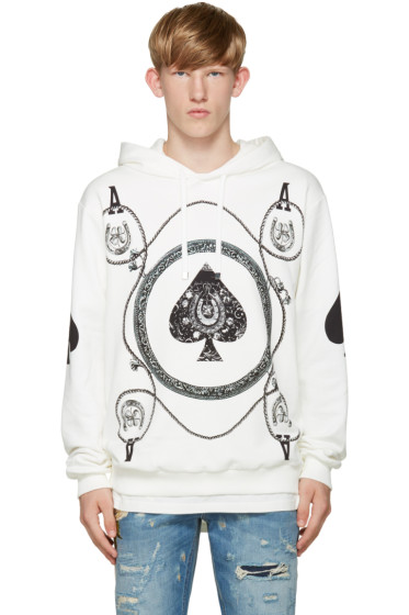 Dolce & Gabbana - White Ace of Spades Hoodie