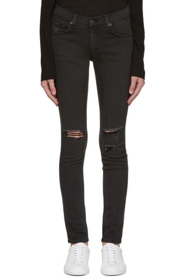Rag & Bone - Black Soft Rock Skinny Jeans
