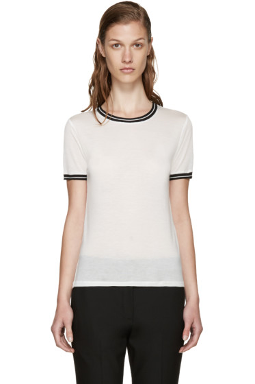 Rag & Bone - White Two-Tone Steve T-Shirt