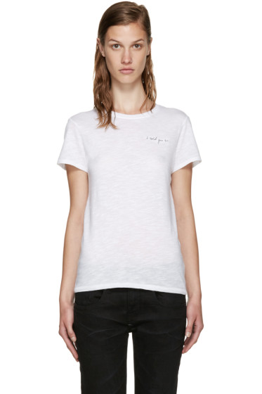 Rag & Bone - White 'I Told You So' Base T-Shirt