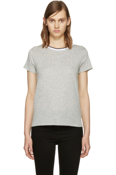Rag & Bone - Grey Rib Base T-Shirt