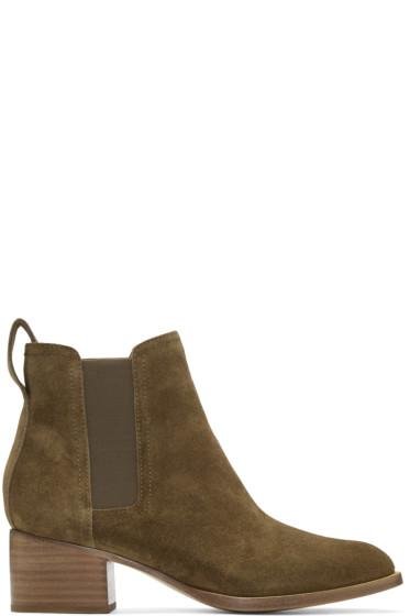 Rag & Bone - Green Suede Walker Boots