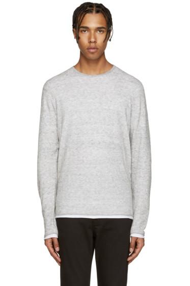 Rag & Bone - Grey Knit Trip Pullover