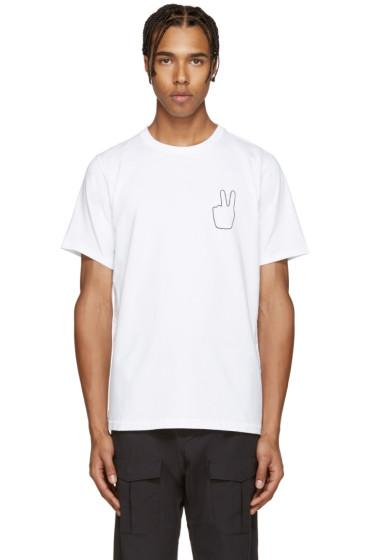 Rag & Bone - White Peace Embroidery T-Shirt
