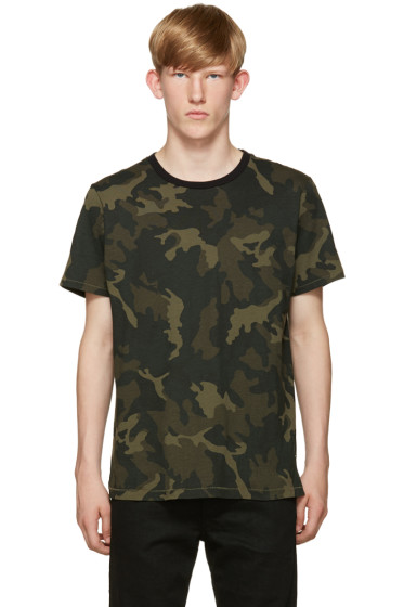 Rag & Bone - Green Camo Ringer T-Shirt