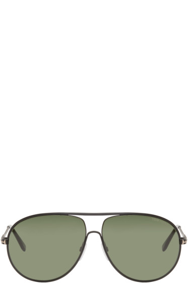 Tom Ford - Black Cliff Aviator Sunglasses