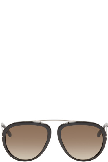 Tom Ford - Black Stacy Aviator Sunglasses
