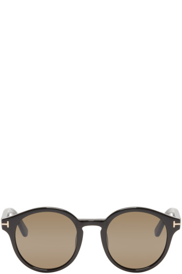 Tom Ford - Black Round Lucho Sunglasses