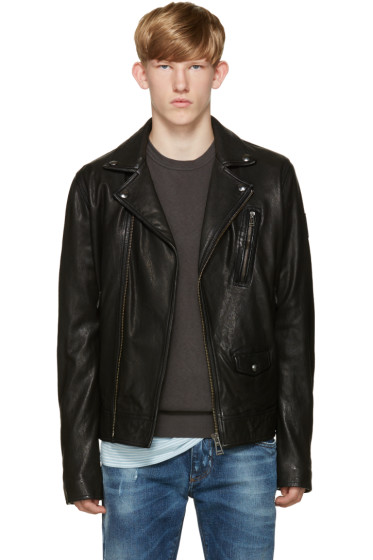 Belstaff - Black Leather Beckenham Jacket