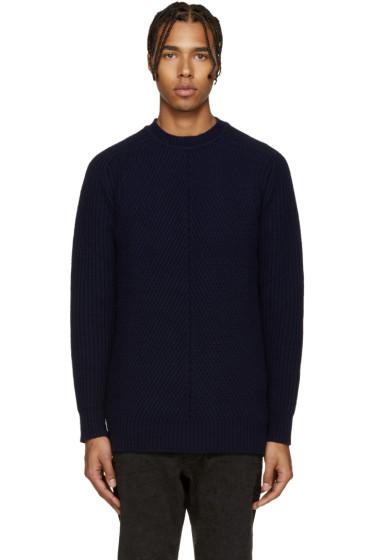 Diesel Black Gold - Navy Wool Multi Gauge Sweater