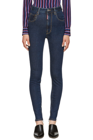 Dsquared2 - Blue High-Rise Twiggy Jeans