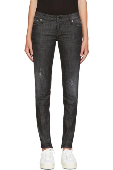 Dsquared2 - Black Distressed Skinny Jeans