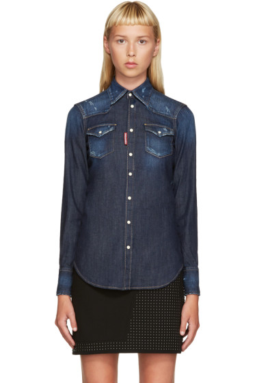 Dsquared2 - Blue Denim Western Shirt