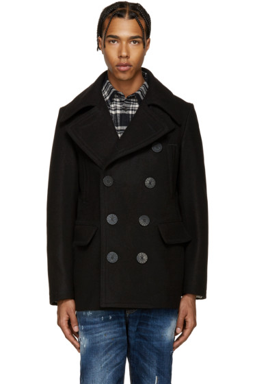 Dsquared2 - Black Wool Peacoat