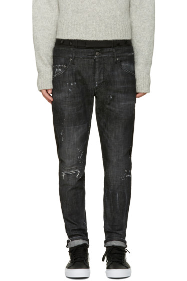 Dsquared2 - Black Uniform Mixed Jeans