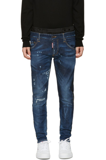 Dsquared2 - Blue Uniform Mixed Jeans