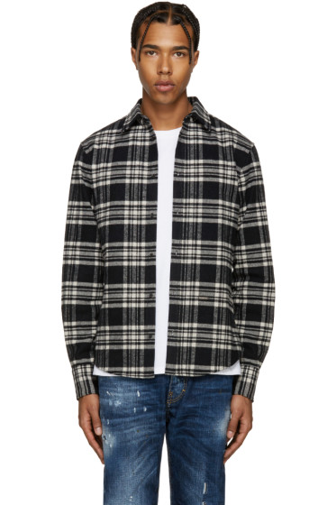 Dsquared2 - Black & White Flannel Check Shirt