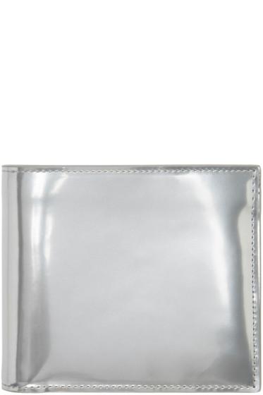 Maison Margiela - Silver Metallic Logo Wallet