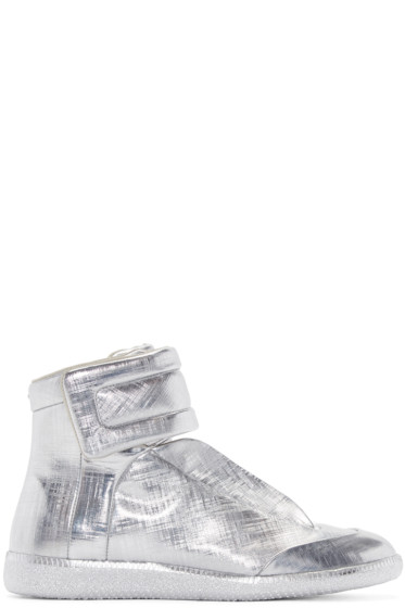 Maison Margiela - Silver Metallic Future High-Top Sneakers