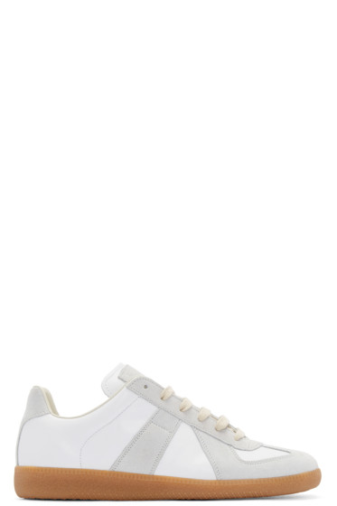 Maison Margiela - White & Grey Replica Sneakers