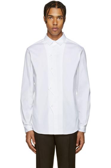 Christopher Kane - White Poplin ZigZag Shirt