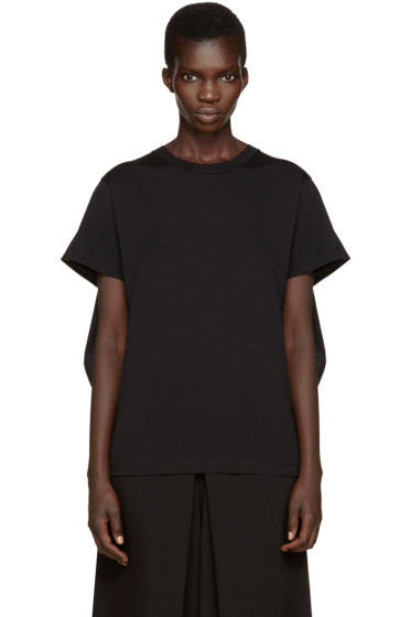 MM6 Maison Margiela - Black Overlay T-Shirt
