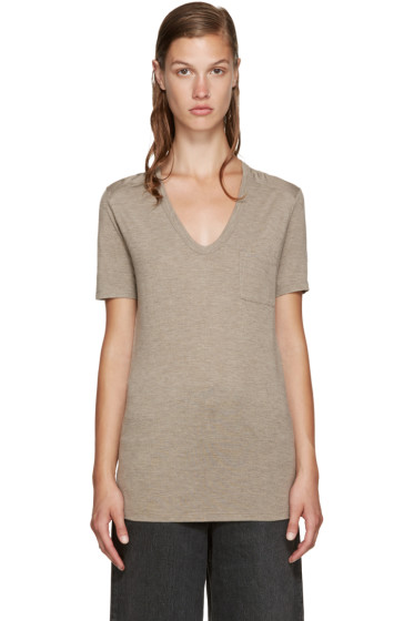 T by Alexander Wang - Taupe Classic Pocket T-Shirt