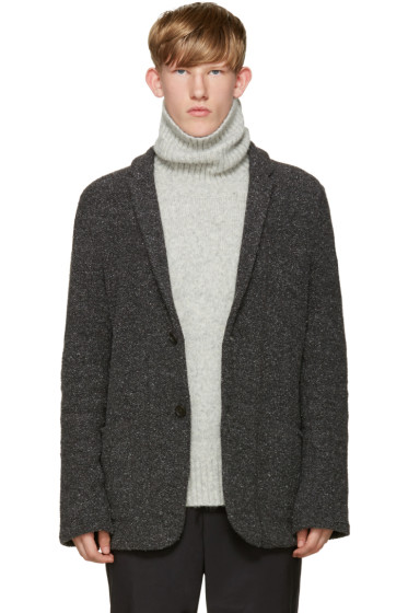Robert Geller - Grey Knit Richard Jacket