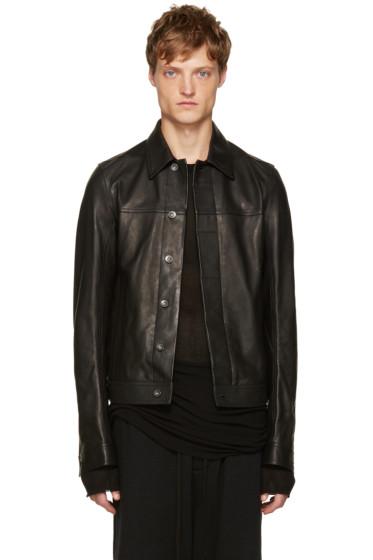 Rick Owens - Black Leather Jacket