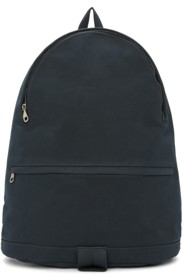 A.P.C. - Blue Synthetic Suede Stefan Backpack