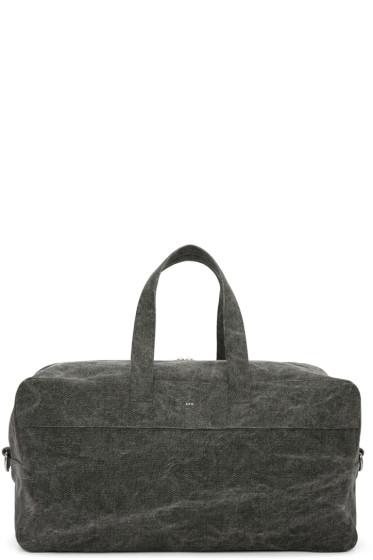 A.P.C. - Grey Canvas Xavier Duffle Bag