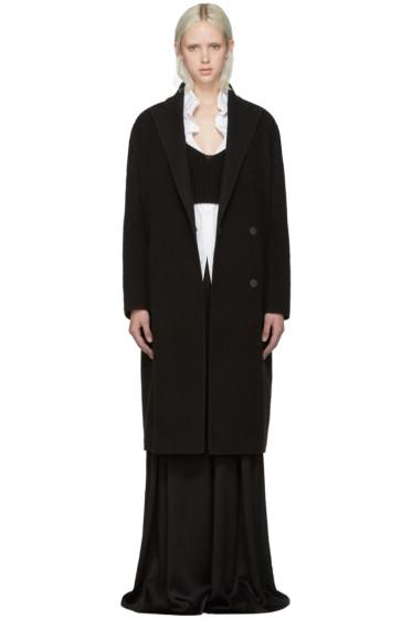 Lanvin - Black Wool Oversized Coat