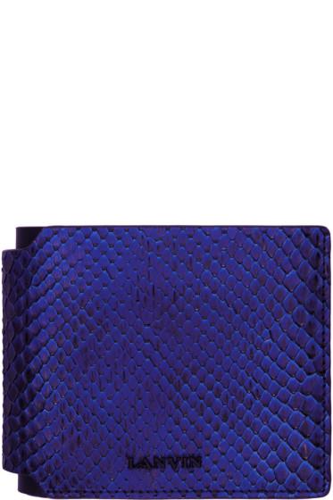 Lanvin - Blue Python Wallet