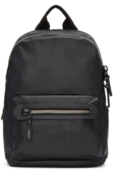 Lanvin - Black Leather Backpack