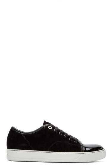 Lanvin -  Black Suede Tennis Sneakers