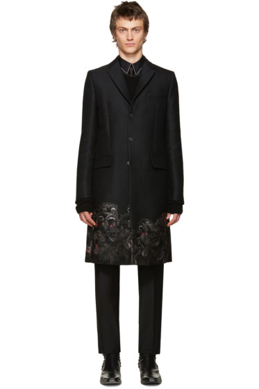 Givenchy - Black Monkey Brothers Coat