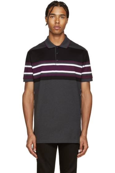 Givenchy - Grey Striped Polo