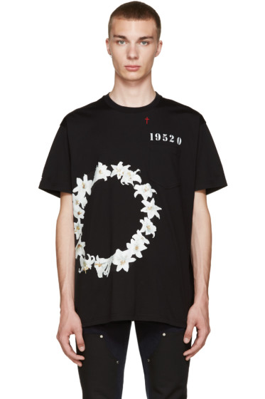 Givenchy - Black Circle Of Flower T-Shirt
