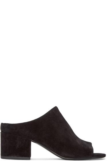 3.1 Phillip Lim - Black Suede Cube Sandals