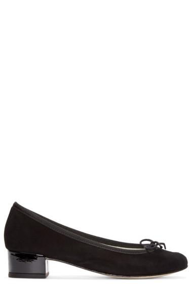 Repetto - Black Goatskin Camille Ballerina Heels