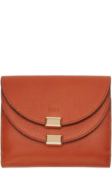 Chloé - Orange Square Georgia Wallet