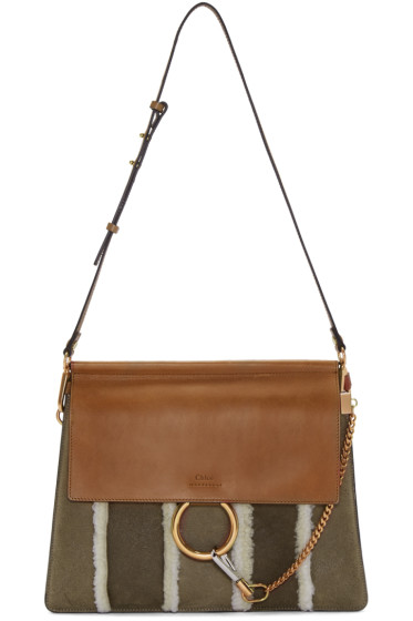 Chloé - Brown Shearling Medium Faye Bag