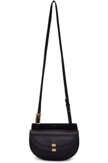 Chloé - Black Mini Georgia Saddle Bag