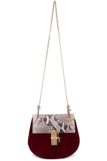 Chloé - Purple Python Small Drew Saddle Bag