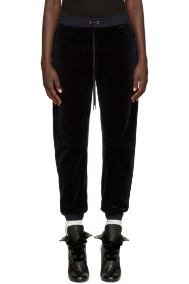 Chloé - Navy Velvet Lounge Pants