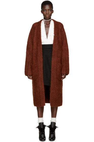 Chloé - Brown Mohair Cardigan