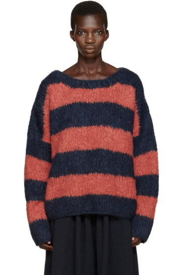 Chloé - Navy & Orange Mohair Sweater