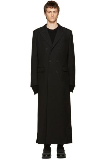 Juun.J - Black Double-Breasted Coat
