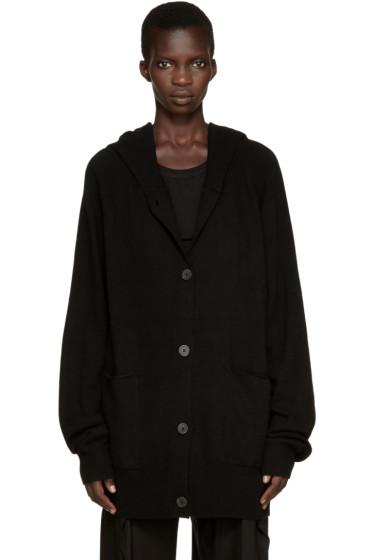 Ann Demeulemeester - Black Wool Lomo Hoodie